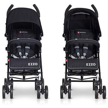 Buggy Kinderwagen EZZO Antracite Aluminium Sportwagen Jogger klappbar mit Liegefunktion - 4