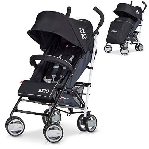 Kinderwagen Buggy EZZO BRAUN Baby Sportwagen klappbar mit Liegeposition