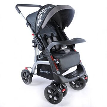 Kinderwagen Sportwagen Delux Jogger Buggy Sportbuggy Kindersportwagen TOP Orange (Schwarz) - 2
