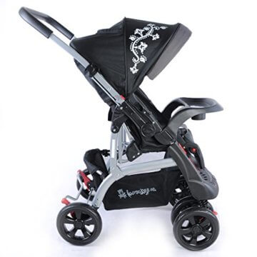Kinderwagen Sportwagen Delux Jogger Buggy Sportbuggy Kindersportwagen TOP Orange (Schwarz) - 3