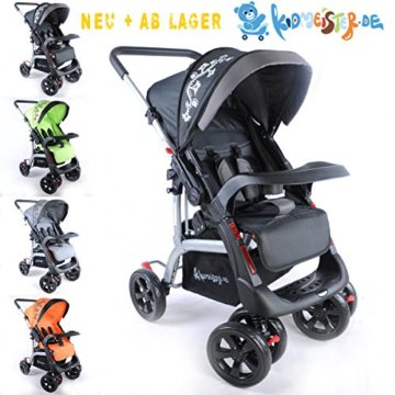 Kinderwagen Sportwagen Delux Jogger Buggy Sportbuggy Kindersportwagen TOP Orange (Schwarz) - 1