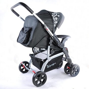 Kinderwagen Sportwagen Delux Jogger Buggy Sportbuggy Kindersportwagen TOP Orange (Schwarz) - 5